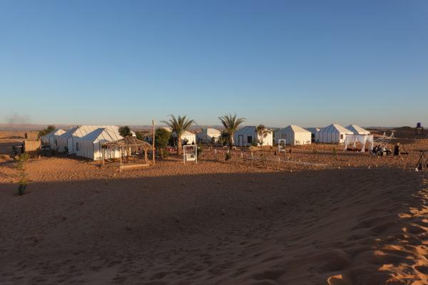 砂漠のテント